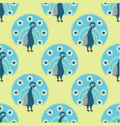 seamless pattern peacock background vector image