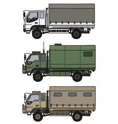 Small terrain trucks vector image