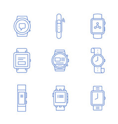 smartwatches - wearable vector image