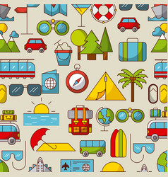 Travel related icons image vector