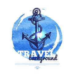 Travel vintage banner vector