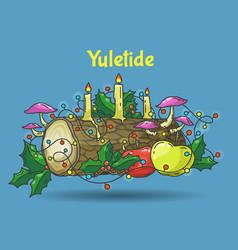 yule log vector image vector image