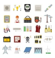 Energy power icons vector