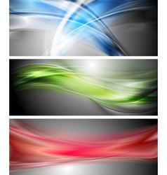 Shiny wavy banners vector image