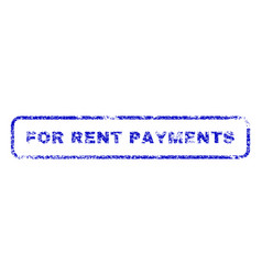For rent payments rubber stamp vector