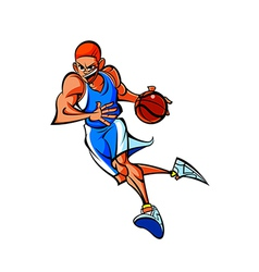 Close-up of man playing with ball vector image
