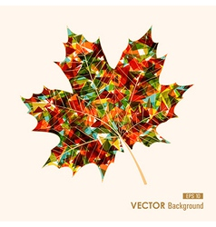 Colorful leaf with triangles inside Autumn vector image