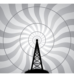 Radio tower vector