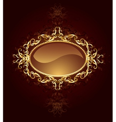 Oval jewelry banner vector
