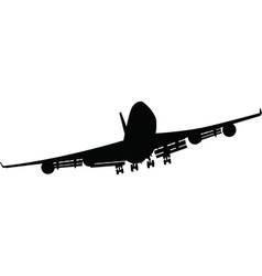 Airplane silhouettes black vector image