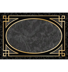 Marble background with frame border vector
