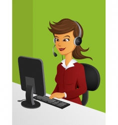 Customer service woman vector