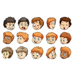 A group of heads vector