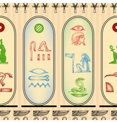 Egyptian hieroglyphics seamless pattern vector