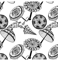 Decorative umbrella image in a cartoon style vector