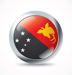 Papua new guinea flag button vector