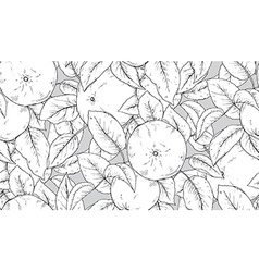 Seamless pattern with hand drawn apple branches vector