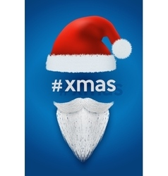 Xmas background of santa with space for text vector