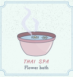 Hand drawn thai massage and spa design elements vector