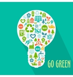 Abstract go green concept vector