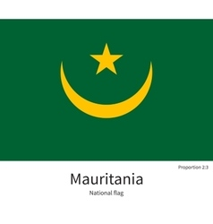 National flag of mauritania with correct vector