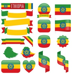 Ethiopia flags vector