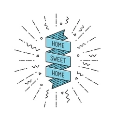 Home sweet inspirational vector