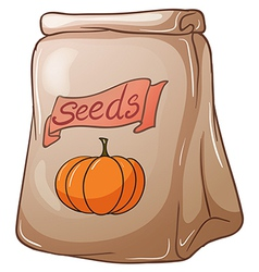 A pack of squash seeds vector