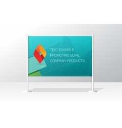 Advertising stand board banner template signboard vector