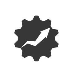 Arrow gear infographic data icon graphic vector