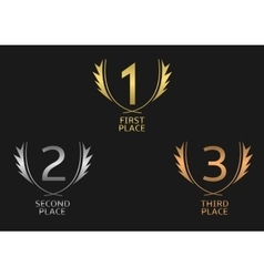Award label set vector image vector image