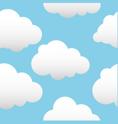 background with clouds white vector image vector image