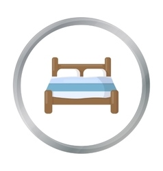 Bed icon of for web and mobile vector image vector image