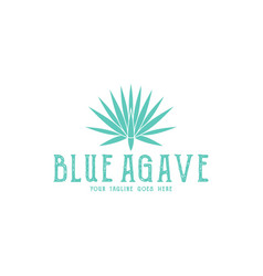 Blue agave logo vector