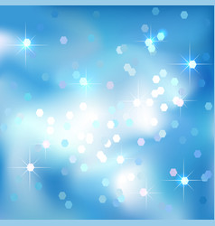 Blue sky abstract background clouds and stars vector