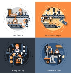 Business Conveyor Set vector image vector image
