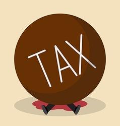 Businessman under heavy tax vector image vector image