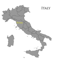 Contour map of italy 01 vector