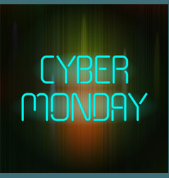 cyber monday poster vector image vector image