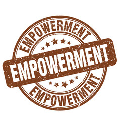 empowerment brown grunge stamp vector image vector image