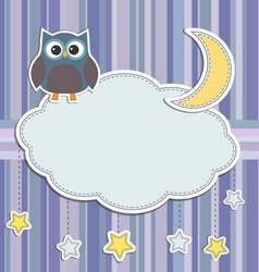 Frame with owl vector image vector image