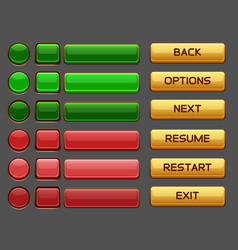 game buttons gui pack pack vector image