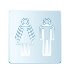 Glass toilet symbols vector image