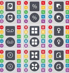 Hard drive Percent Copy Cassette Apps Venus symbol vector image vector image