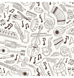 jazz - seamless background vector image