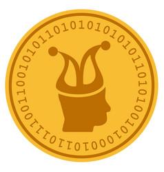 Joker digital coin vector