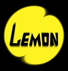 logo lemon on black background vector image vector image