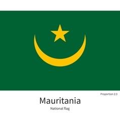 National flag of mauritania with correct vector