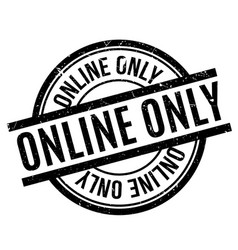 Online only rubber stamp vector