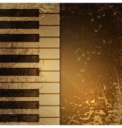 piano vintage vector image vector image